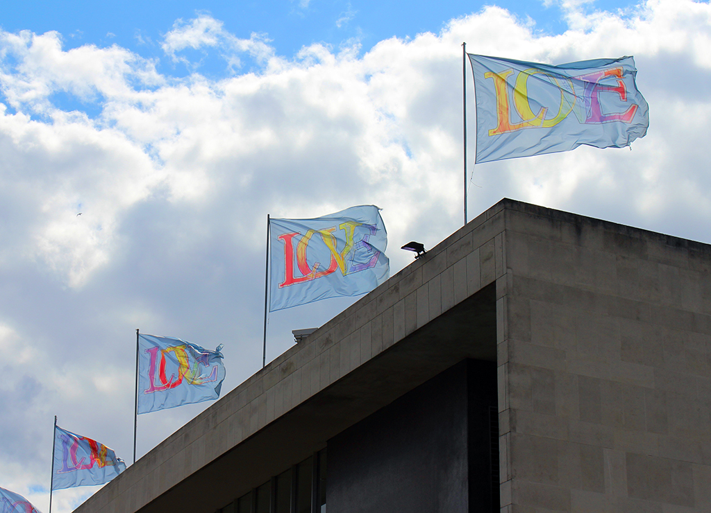 'Love Flags', 2014, Royal Festival Hall, London.
