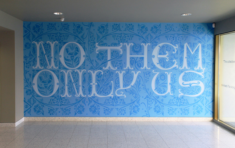 'No them only us', 2014. Wall drawing, installed Akerman Health Centre, London.