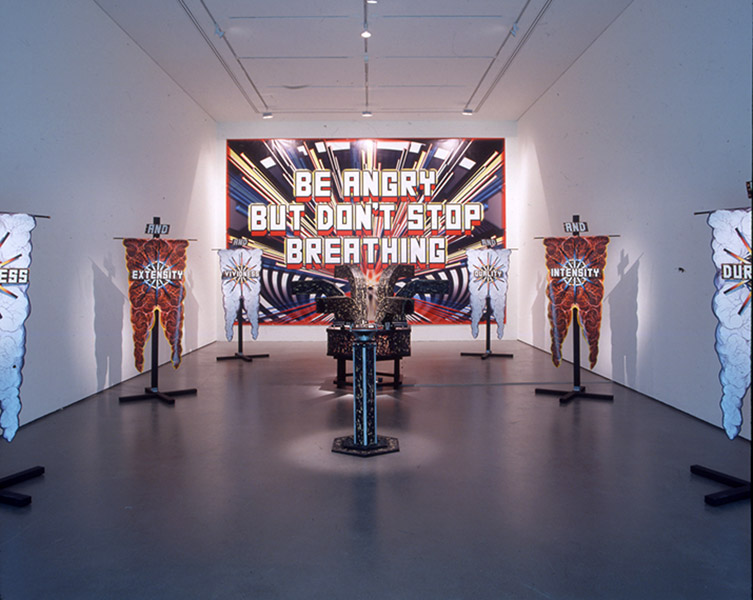 Mark Titchner, 'Be angry but don't stop breathing', Tate Britain, 2003.