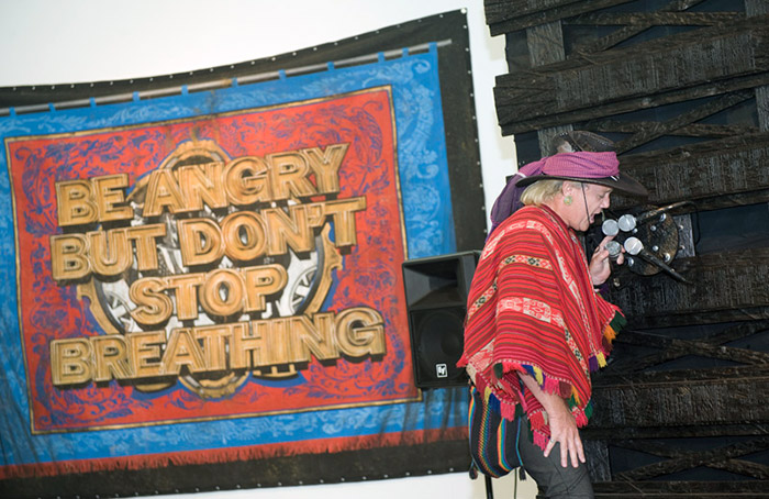 Mark Titchner, 'Be angry but don't stop breathing', 2011. Installed New Art Gallery, Walsall.