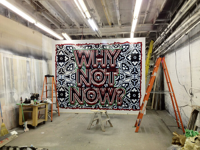 'Why not now?', 2012, Toronto.